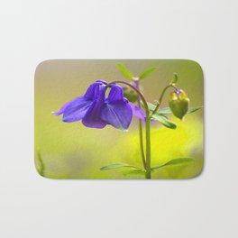 Purple Columbine In Spring Mood Bath Mat
