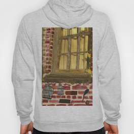bird cage by the window Hoody
