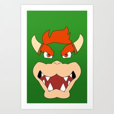 Bowser Super Mario Bros. Art Print