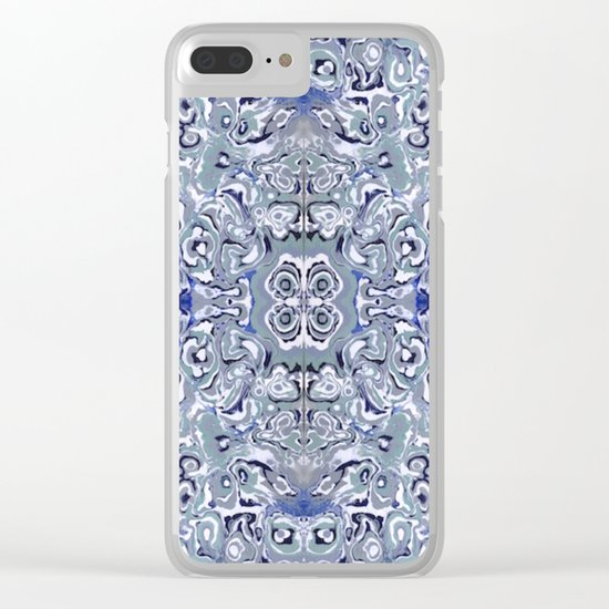 Periwinkle Oyster Farm Clear iPhone Case