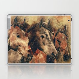 Galloping Wild Mustang Horses Laptop & iPad Skin