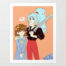 Botan and Keiko Art Print