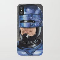 robocop iPhone & iPod Cases featuring Robocop by Luis Tinoco