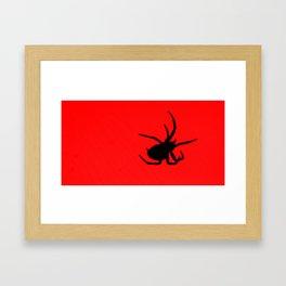 Black Spider Framed Art Print