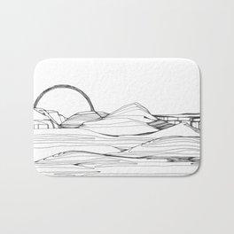 Neutral Susnset Bath Mat