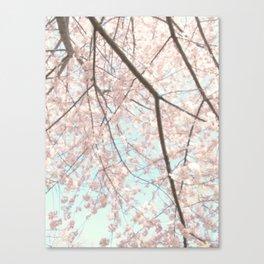 Vintage pink tree Canvas Print