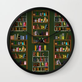 For The Love Of Books Wall Clock