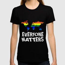 Everyone Matters World Map | LGBT Gay Pride Rights T-shirt