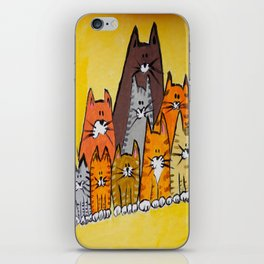 9 cats iPhone Skin