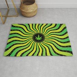 Marijuana energy | Sacred geometry mandala Rug