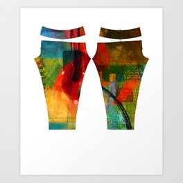 Yes Leggings Art Print