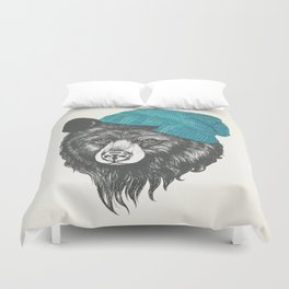 Zissou the bear in blue Duvet Cover