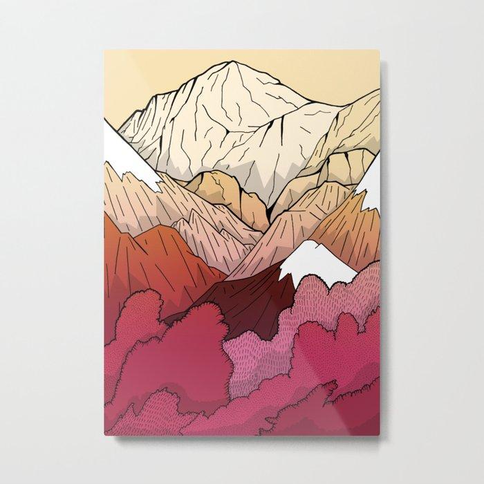 Autumnal Mountains Metal Print