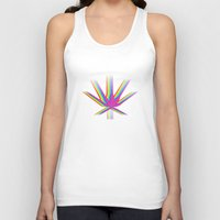 "cannabis Tank Tops featuring Rainbow Cannabis by ""LSC"""