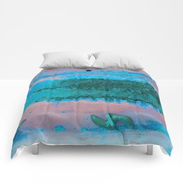 Rusted Middle Mauve and Turquoise Comforters