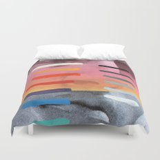 Composition on Panel 4 Duvet Cover