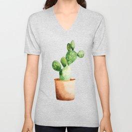 Potted Cactus Unisex V-Neck