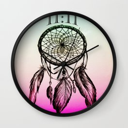 11:11 Eleven Eleven Spiritual Dream Catcher Wall Clock