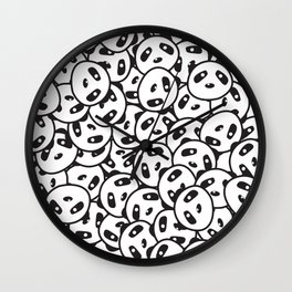 Pandamonium (Patterns Please) Wall Clock