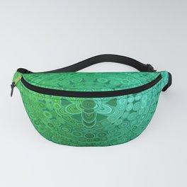 Green Mandala Circle Fanny Pack
