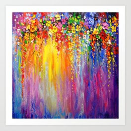 Symphony of flowers Art Print
