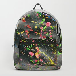 Man in Art Backpack