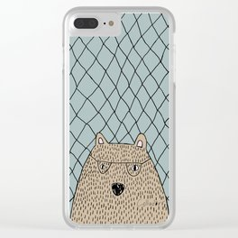 Spectacled Bear Clear iPhone Case