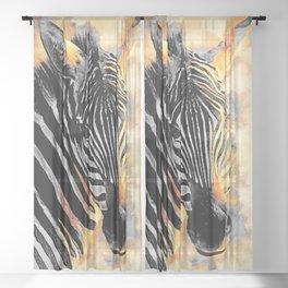 zebra #zebra #animals Sheer Curtain