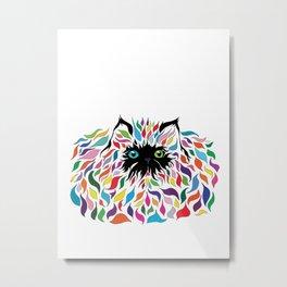 Color Kitty Metal Print