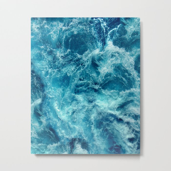 Ocean is shaking Metal Print