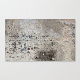 LETTER Canvas Print