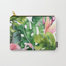 Tropical & flamingo collection Carry-All Pouch