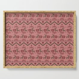 Fair Isle Christmas Sweater Pattern Serving Tray