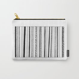 Abstract Black Lines Pattern Carry-All Pouch