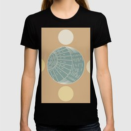 Bohemian Moon - Mid Century Modern Circles T-shirt