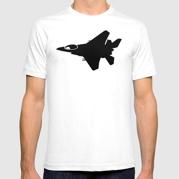 F16 War Plane Jet Silhouette T Shirt By Azza1070 Society6