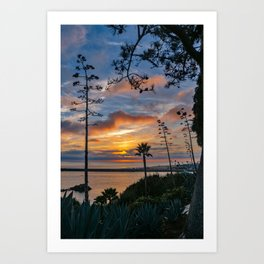 Colorful Sunset at Lookout Point Art Print