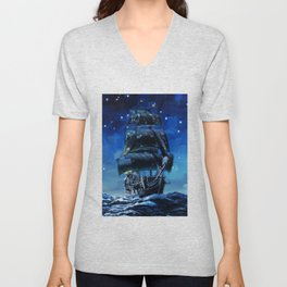 Black Pearl Starry Night Unisex V-Neck