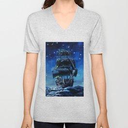 Black Pearl Starry Night Unisex V-Neck