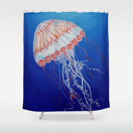 Jellyfish  Oil Painting by Faye Shower Curtain