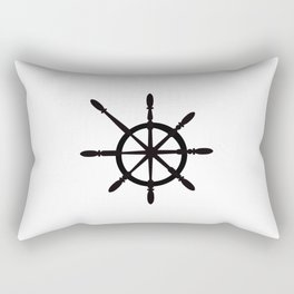Steering wheel - stuurwiel - pirate - sailboat Rectangular Pillow
