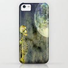 Skeleton in clear of the moon Slim Case iPhone 5c