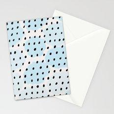 Blue Dots Pattern Stationery Cards
