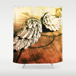 The Angel Has Landed Shower Curtain