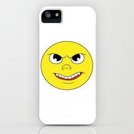 Sarcastic Angry Emoticon T-shirt Design Mood Feeling Negative Mad Annoyed Bitter Enraged Furious iPhone Case