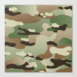 Military Camouflage: Woodland Canvas Print
