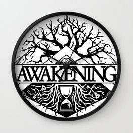 Awakening Logo White Wall Clock