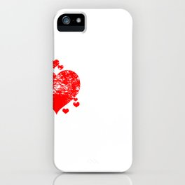 Hustle Peace Love and Hustle Heart iPhone Case