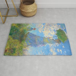 Claude Monet - Woman with a Parasol - Digital Remastered Edition Rug