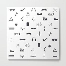 065 Hipster Metal Print